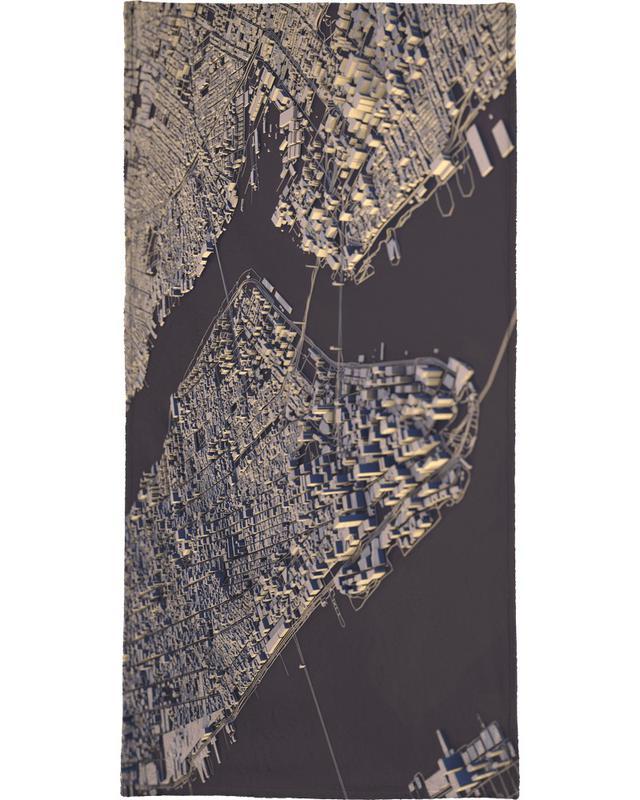 Manhattan City Map II serviette de bain