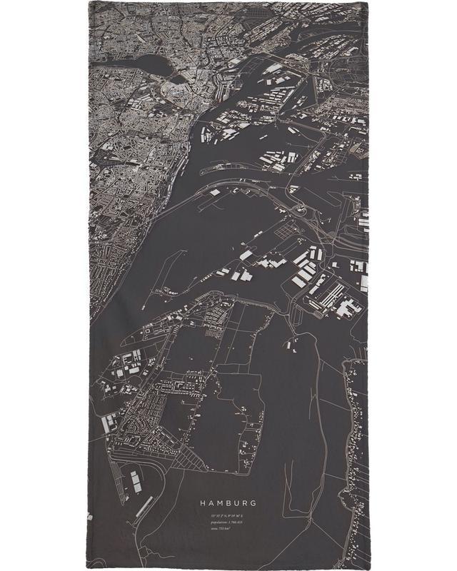 Hamburg City Map -Handtuch