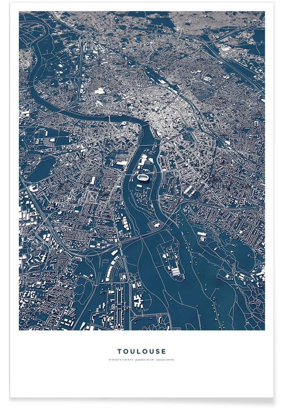 Toulouse Premium Poster | Dekoration > Bilder und Rahmen > Poster | Mehrfarbig