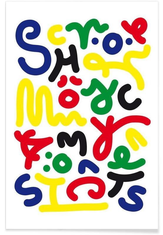 Schön Color Poster