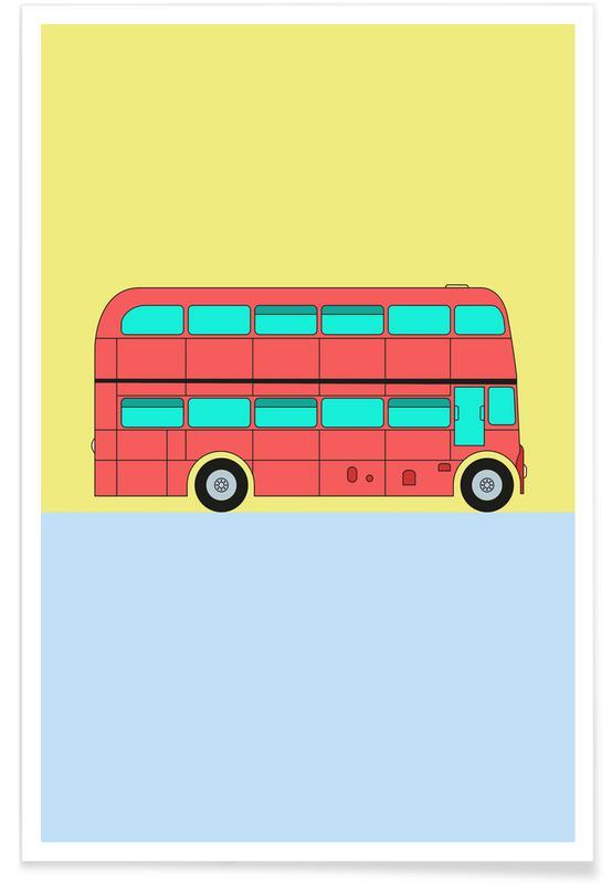 London Bus Tour Poster