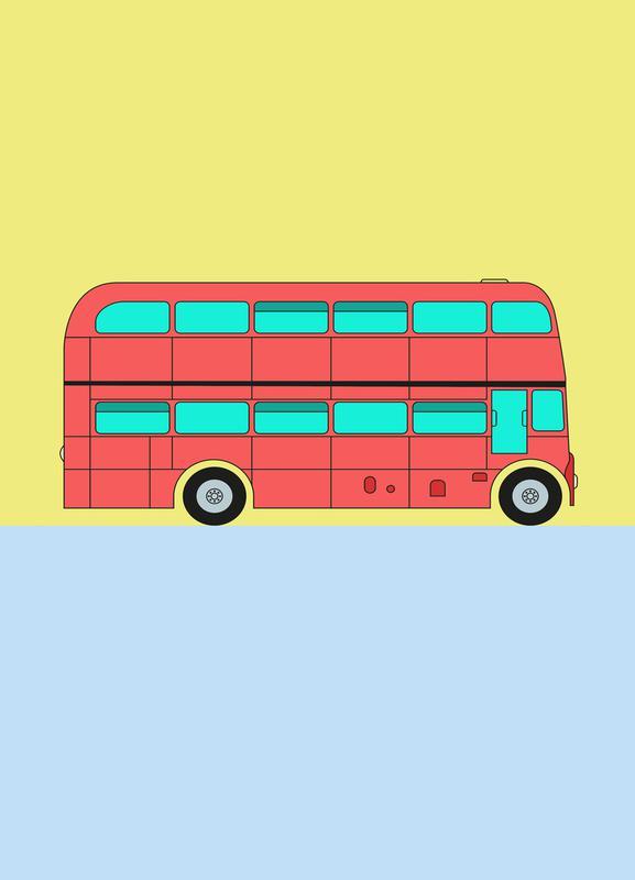 London Bus Tour Leinwandbild