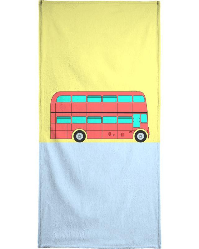 London Bus Tour Strandtuch