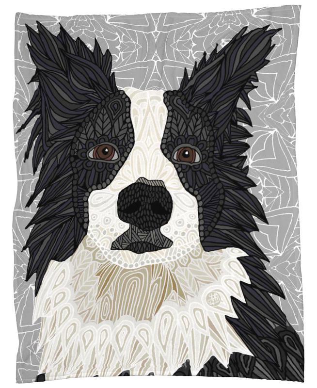 Border Collie Fleece Blanket