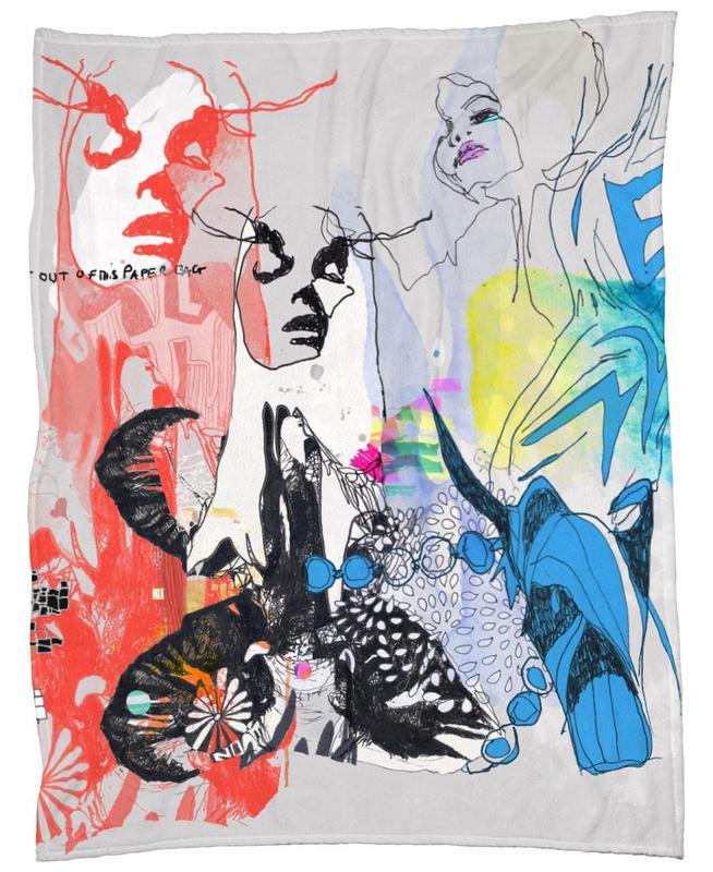 Paper Bag Fleece Blanket