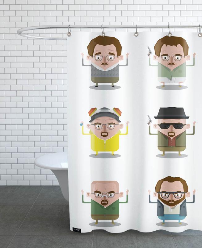 Heisenberg Duschvorhang | Bad > Duschen > Duschvorhänge | Mehrfarbig | Polyester