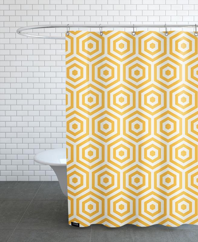 Yellow Beehive Shower Curtain