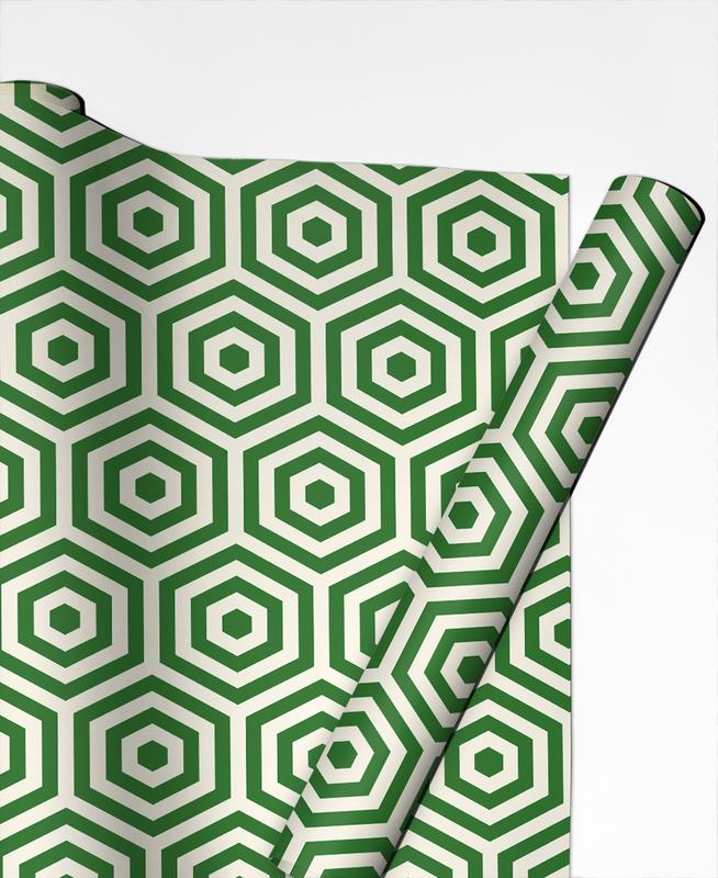 Green Beehive Gift Wrap