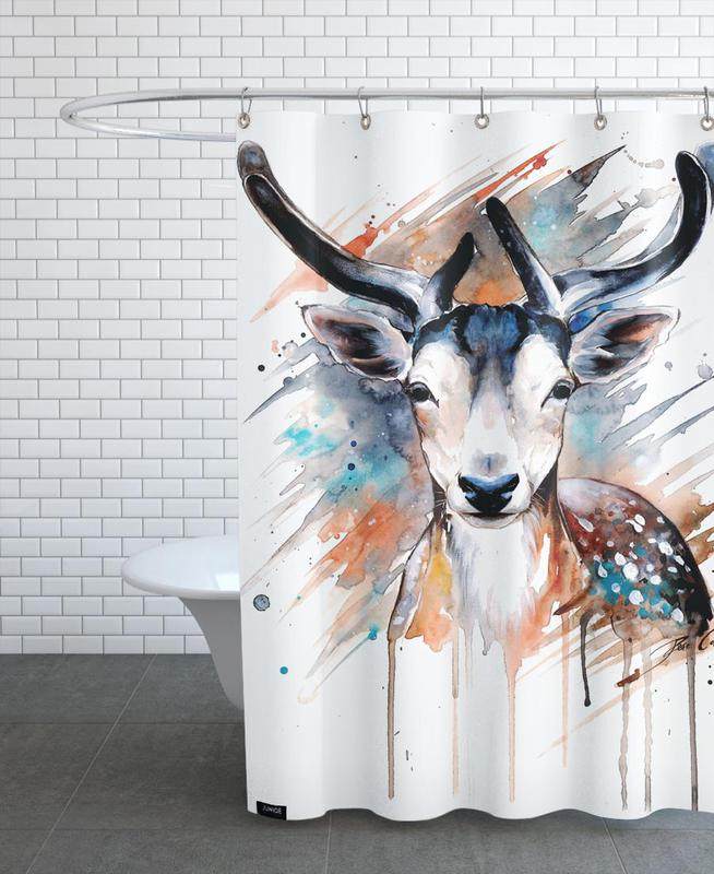 Deer Portrait -Duschvorhang