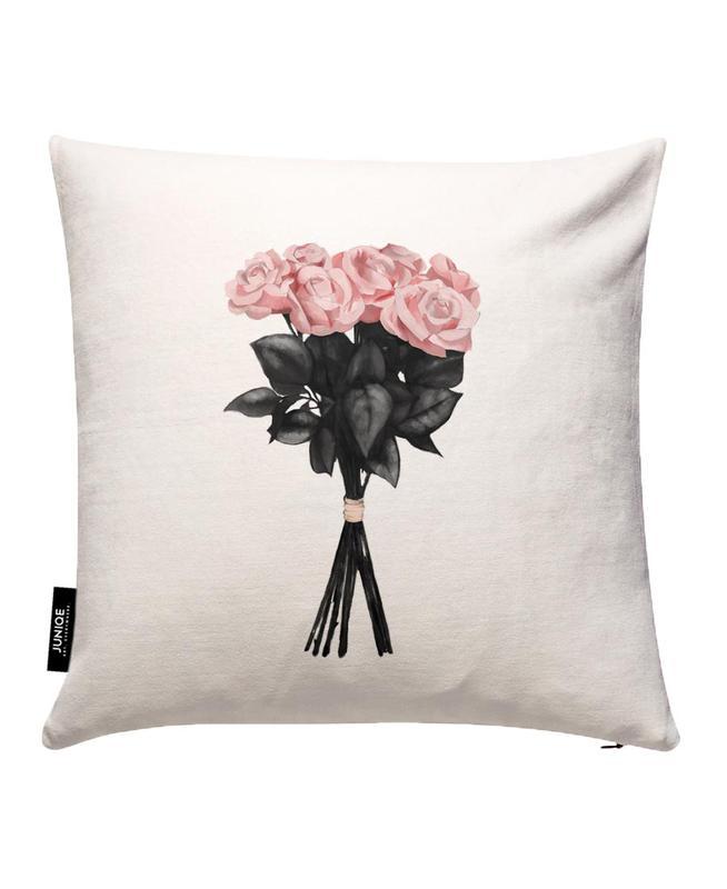 Pink Bouqet JUNIQE Kissenhülle | Heimtextilien > Bettwäsche und Laken > Kopfkissenbezüge | Mehrfarbig | Baumwollstoff