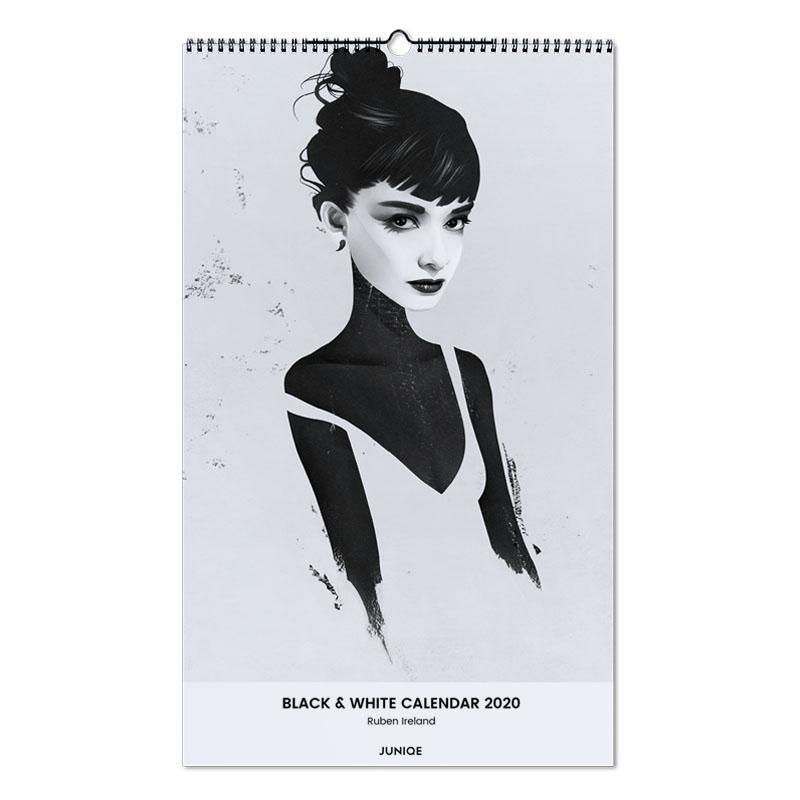 Black & White Calendar 2020 - Ruben Ireland Wall Calendar