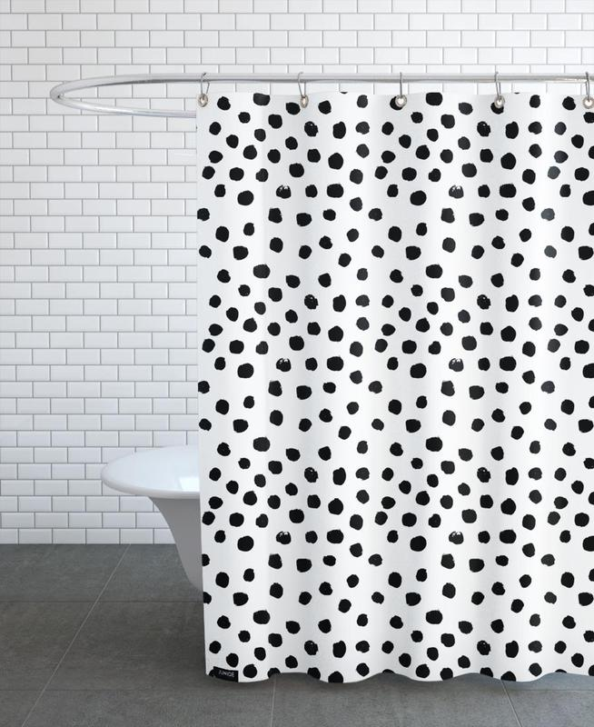 Dots Black And White Shower Curtain