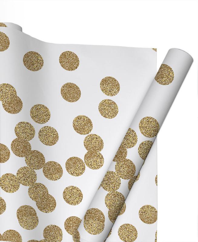 Gold Glitter Gift Wrap
