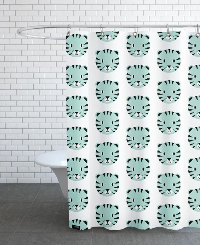 Tiger Duschvorhang | Bad > Duschen > Duschvorhänge | Mehrfarbig | Polyester