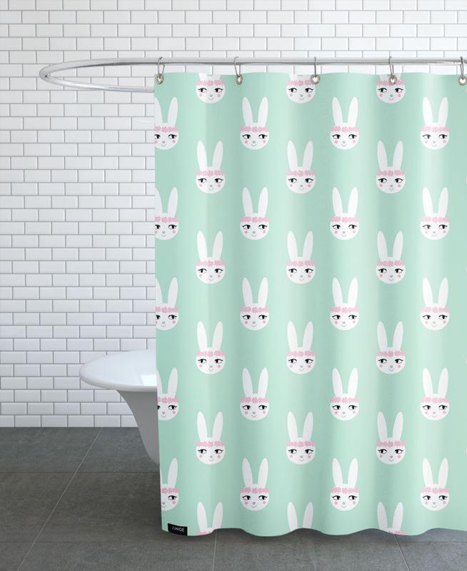 Easter Bunny Mint -Duschvorhang