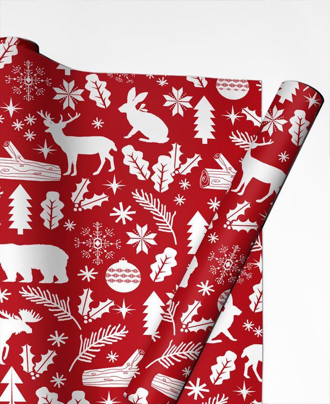 Christmas Woodland Gift Wrap