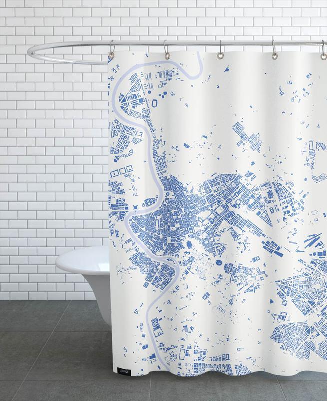 Rome Blue rideau de douche
