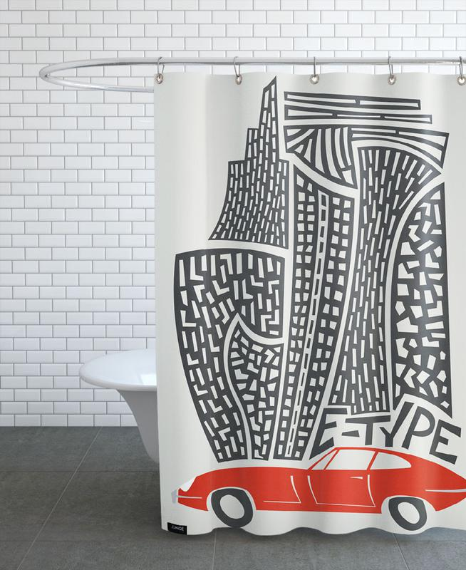 E Type -Duschvorhang