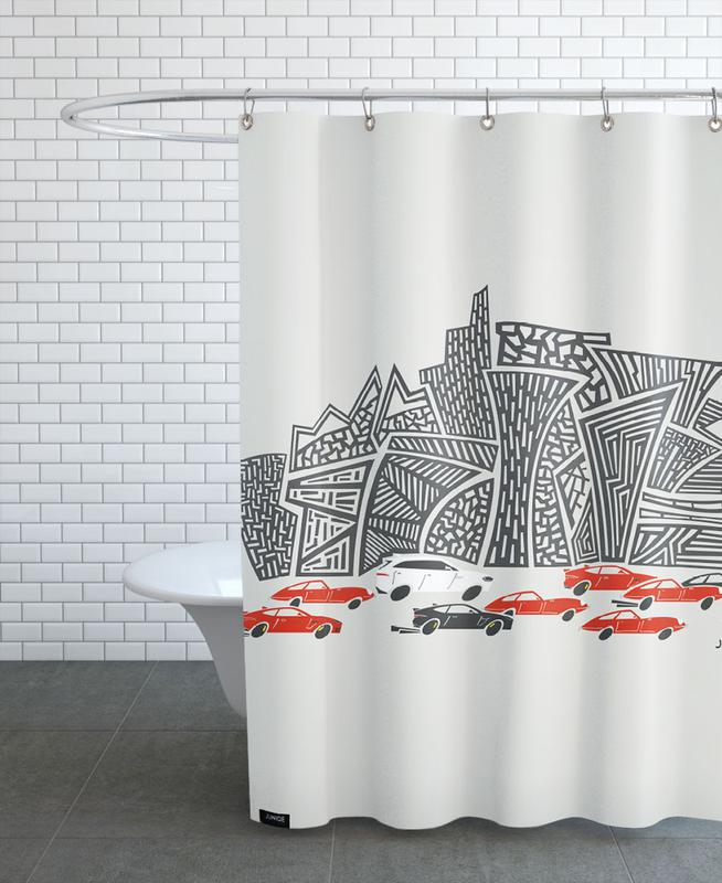 Jaguar City -Duschvorhang