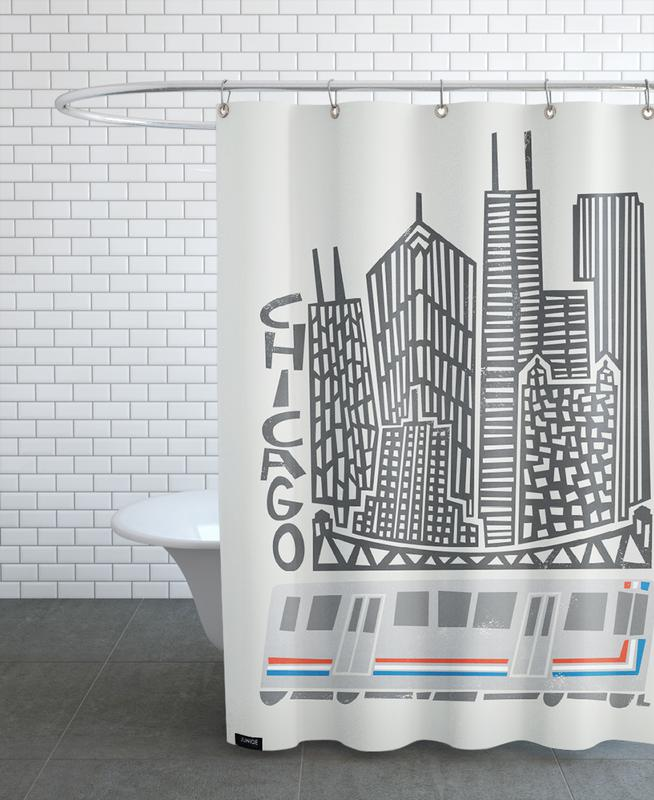 Chicago Duschvorhang | Bad > Duschen > Duschvorhänge | Mehrfarbig | Polyester