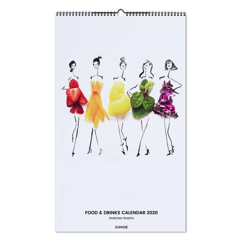 Food & Drinks Calendar 2020 - Gretchen Roehrs Wall Calendar