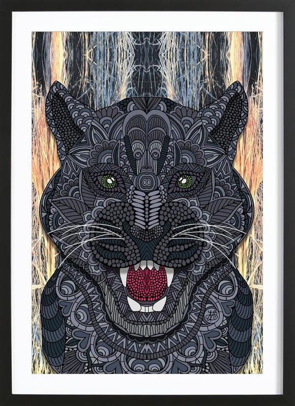 Panther affiche sous cadre en bois