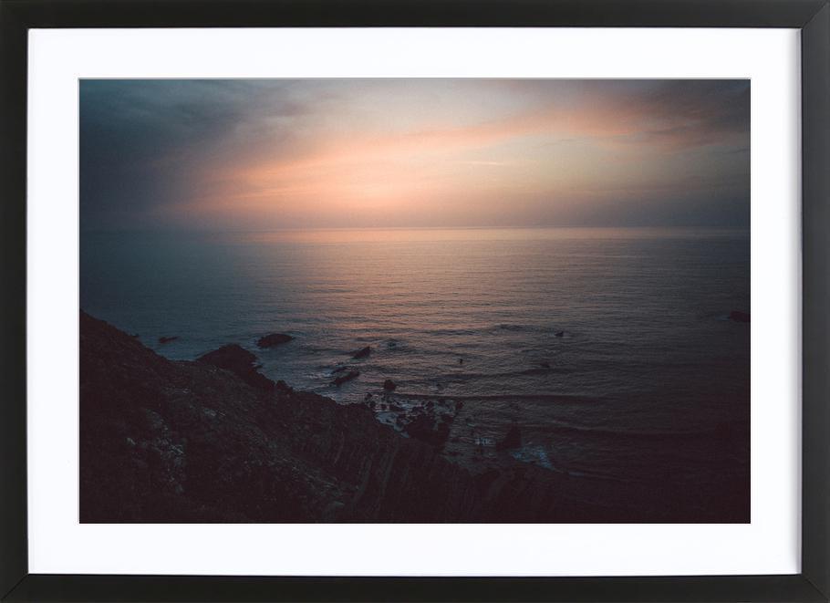Taste of Sea Sunset -Bild mit Holzrahmen