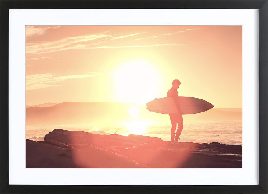Early Surf x Anchor Point -Bild mit Holzrahmen