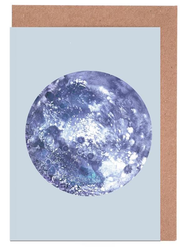 Earth blue Greeting Card Set
