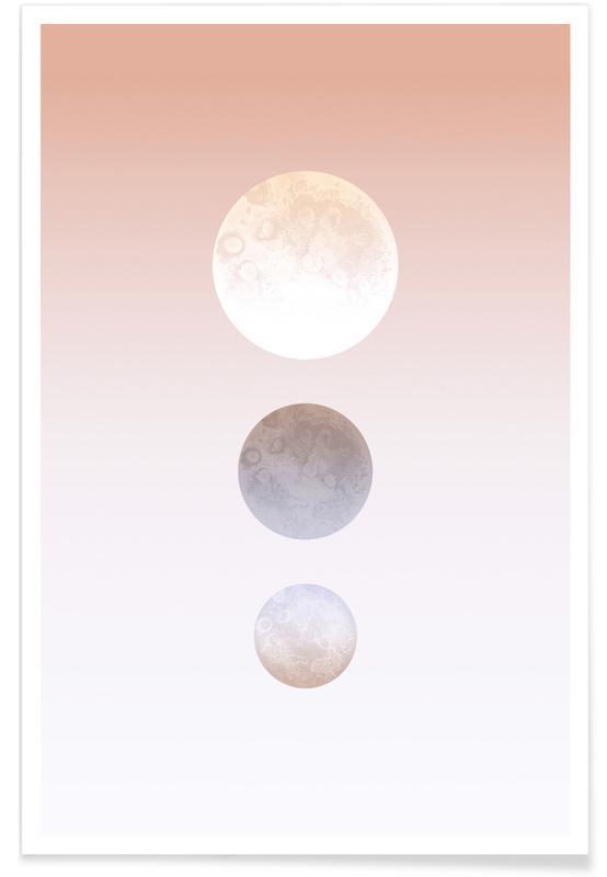 Moon Triplet Poster