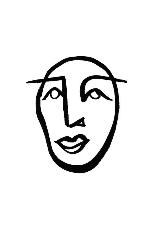 Faces 2 Impression sur alu-Dibond