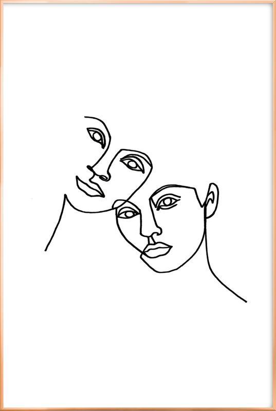 Close -Poster im Alurahmen