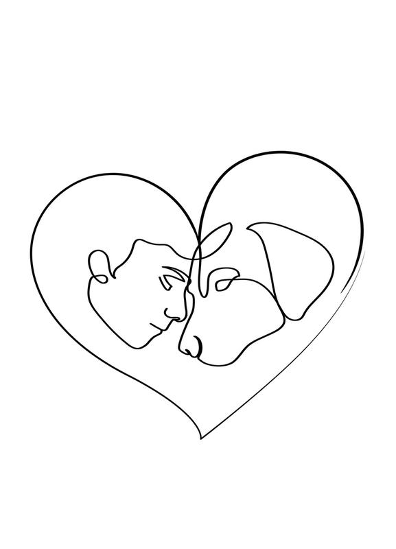 Dog Love -Leinwandbild
