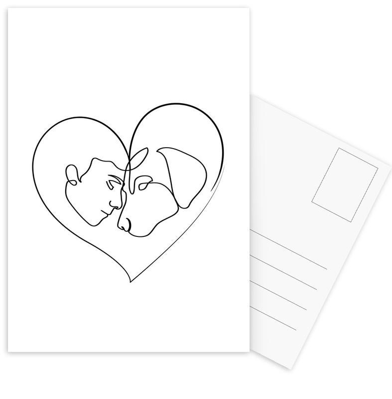 Dog Love -Postkartenset