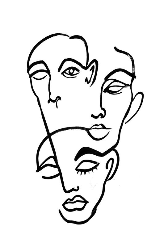 Faces 12 -Acrylglasbild