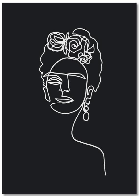 Frida Kahlo BW Notebook