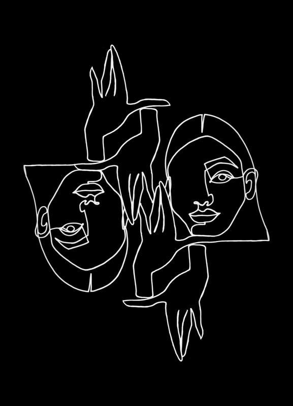 Mila BW -Leinwandbild