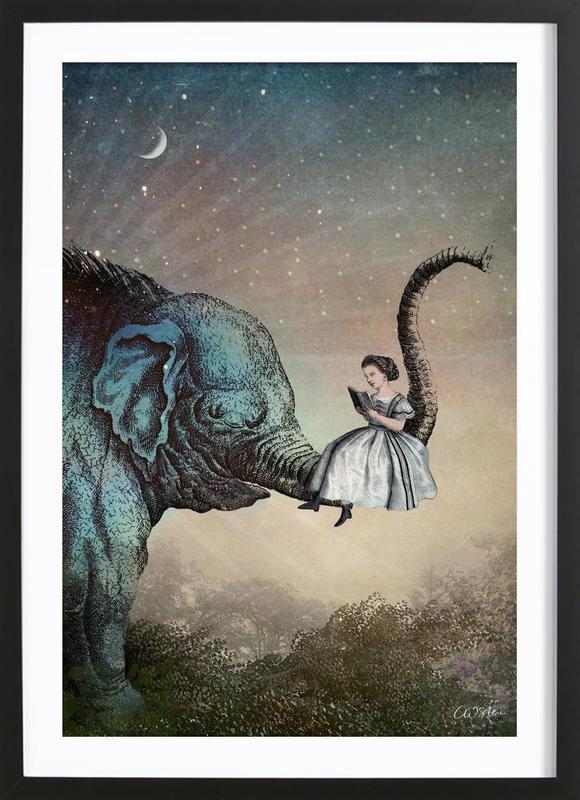 Good Night Story -Bild mit Holzrahmen