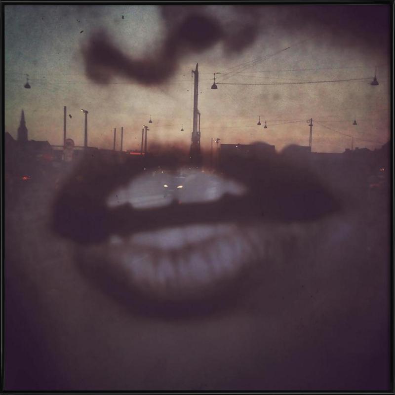 Reflex Lips -Bild mit Kunststoffrahmen