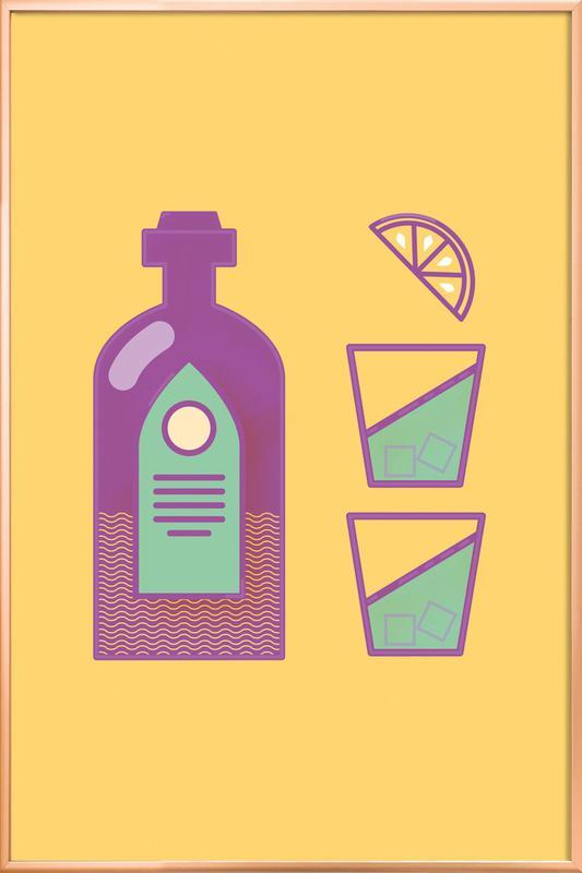 Sternschanze Drinks Poster im Alurahmen