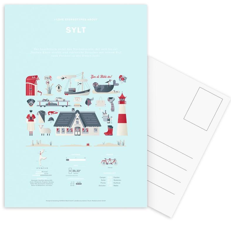 Sylt -Postkartenset