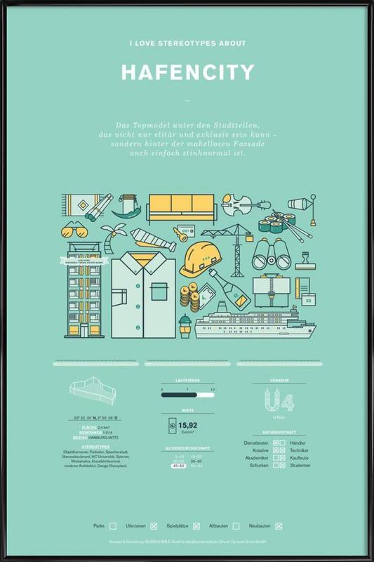 Hafencity Framed Poster