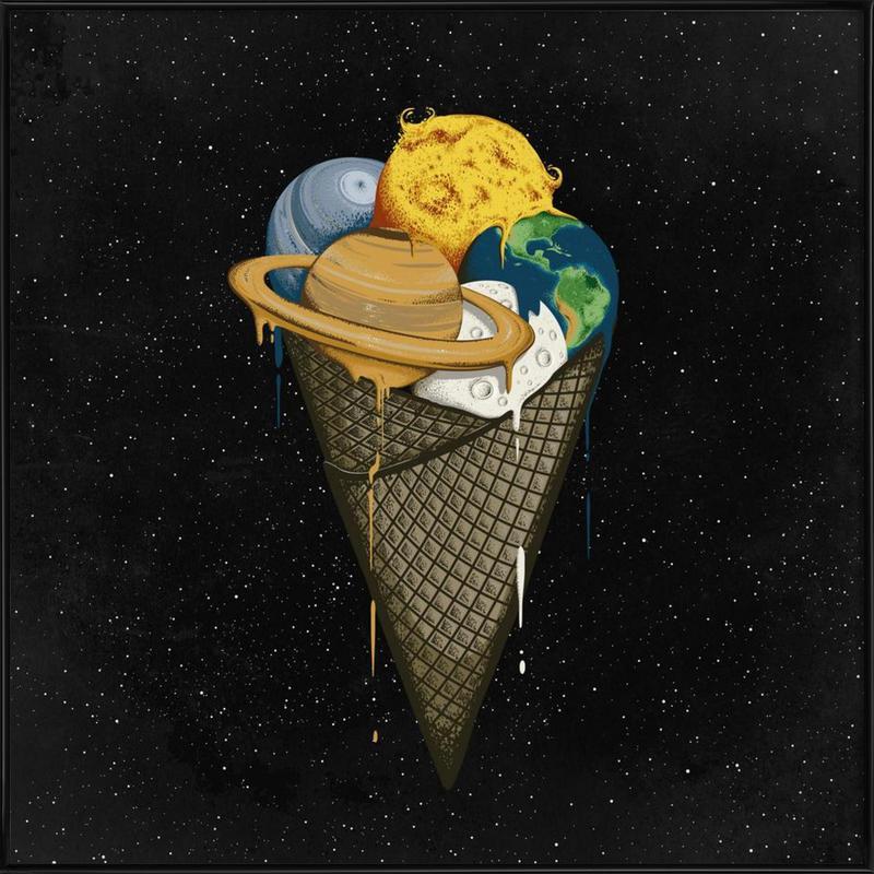 Galactic Ice -Bild mit Kunststoffrahmen