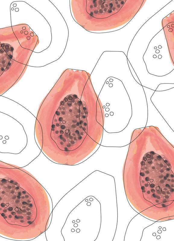 Papaya canvas doek