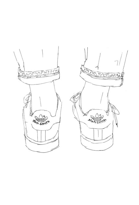 Sneaker Impression sur alu-Dibond