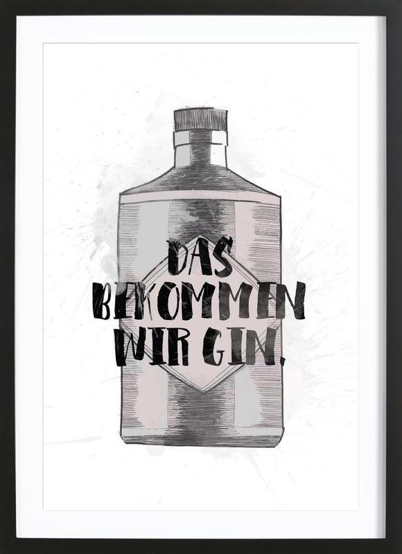 Gin ingelijste print