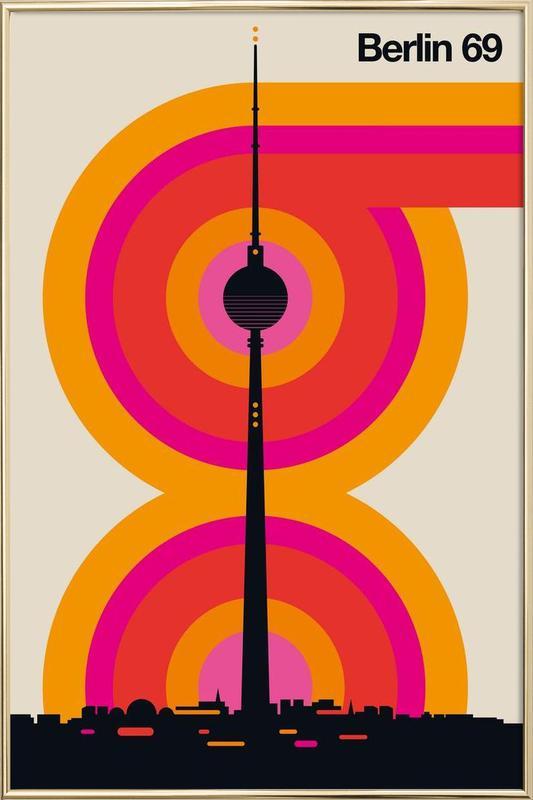 Berlin 69 Poster in Aluminium Frame