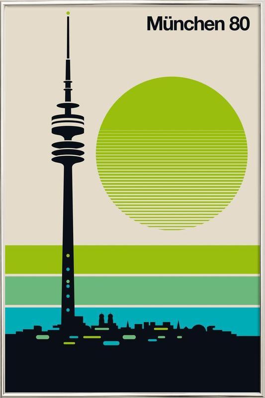 München 80 Poster in Aluminium Frame