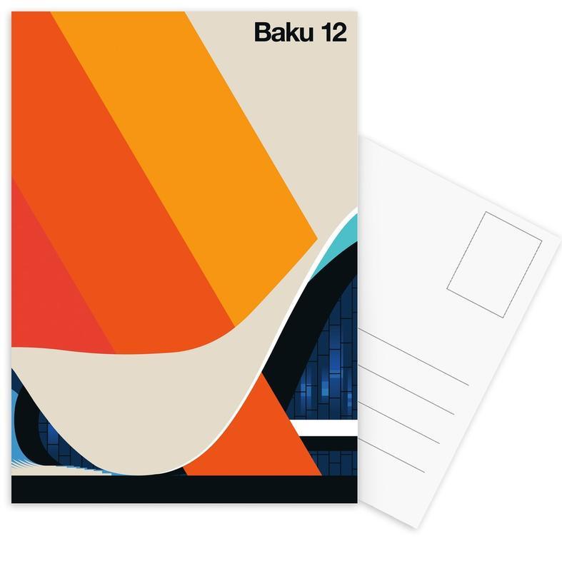 Baku 12 Postcard Set