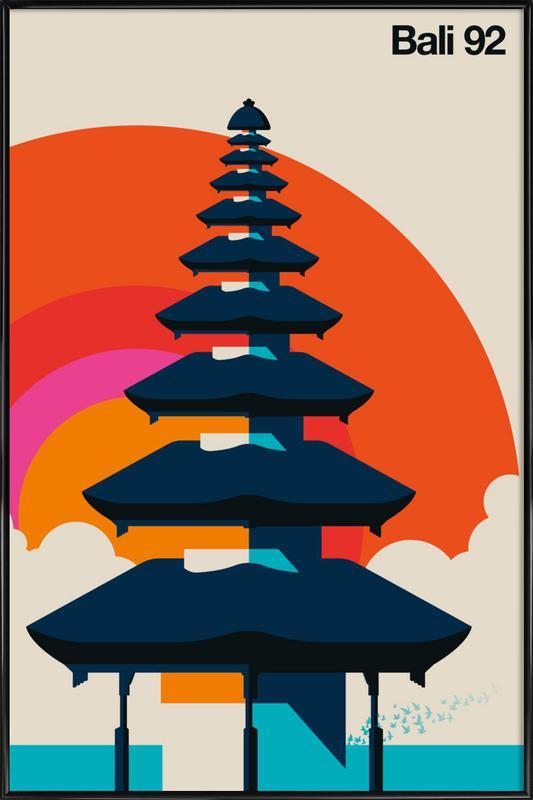 Bali 92 -Bild mit Kunststoffrahmen